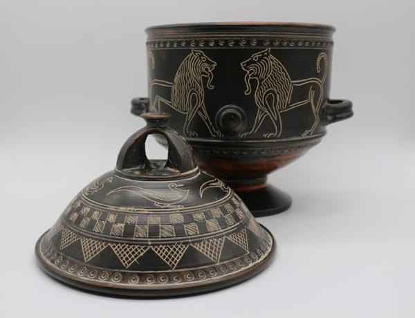 Colección efímera bicolor urna leones