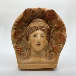 Antefija etrusca pigmentada
